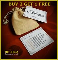 A LITTLE BAG OF HAPPINESS LUXURY GIFT BAG NOVELTY LITTLE BAG OF JOY HAPPINESS