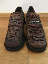 Armando Pollini Vintage Shoes Bronze And Black Tiger Design. Size 37.5