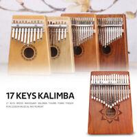 17 Keys Wood Mahogany Kalimba Finger Percussion Thumb Piano+Tuner Storage Bag