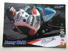 Danny Webb mano firmado 125cc MotoGP Poster Monster Energy.