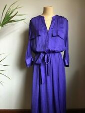 COUNTRY ROAD PURPLE MAXI SHIRT DRESS (labelled size 12)