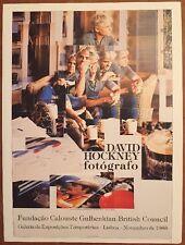 """David Hockney fotografo LISBOA 1983 MINI POSTER POP ART originale. REPRO .14 x 10"""" 115"""