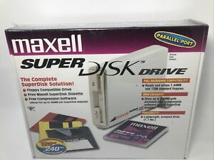 VINTAGE MAXELL SUPERDISK™DRIVE-LS-120-PARALLEL PORT- New IN Retail Box!