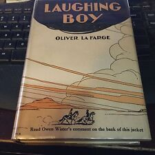 LAUGHING BOY 1st edition, 2nd printing jacket La Farge Pulitzer Prize winner