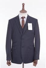 Savile Row 3 Piece Suit Tailored Fit Navy Blue 44R W38 L31