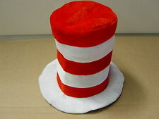 Red/White Stripe Dr Seuss Cat in the Hat Costume Hat and Bow Tie Book Week Dress