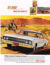 Vintage 1964 Magazine Ad Oldsmobile F-85 Cutlass Bucket Seats Standard Equipment