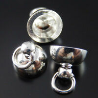 39748 Antque Silver Alloy Pot Cover Caps Pendants For Carfts Making 20Pcs