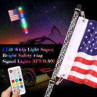 3FT Color LED Whip 360° Wrapped for Whip-ATV-UTV-RZR-YXZ-X3-Buggy US^