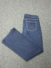 TALBOTS Blue Flat Zip Front 5 Pocket Signature Cotton Bootcut Jeans Sz 14 CC2808