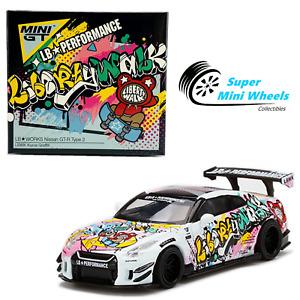 Mini GT 1:64 LB-Works Nissan GT-R R35 Type 2 Rear Wing Ver 3 Kuma Graffiti #244