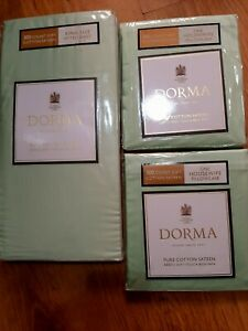 Dorma mint green king fitted sheet and pillowcase pair