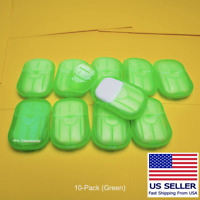 200 Super Paper Soap Sheets Portable Travel Hand Washing 10-Pack Green Soluble