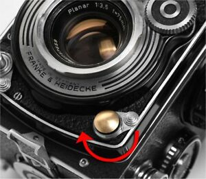 Rolleiflex Rolleiflex Fit Flash Sync Cover (Brass) - BRAND NEW
