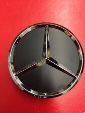 MERCEDES-BENZ 75mm (1CAP) BLACK WITH CHROME STAR WHEEL CENTER CAPS WC4PC501 MB1