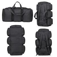 Large 90L Military Tactical Duffel Backpack Travel Hiking Rucksack Luggage Bag