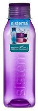 Sistema Square 725ml Drink Bottle Purple Water Juice School Sport Gym BPA Free