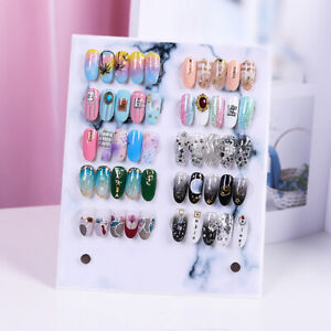 Magnetic Nail Art Tip Display Stand Holder Acrylic Detachable Card Display Board