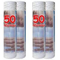 """Cartouche filtre à eau 10"""" 50 µm bobinée sédiments-particules-boue (lot de 4)"""