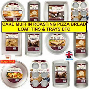 New Baking Bake Bakeware Trays Pans Crisper Roast Muffin Cake Tins Cooking Ovens