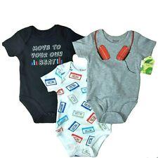 Neu Packet Set 3 Baby Kurzarm Body Gr 62/68, 68, 3-6 Monate, Musik, Kopfhörer