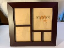 Melannco 5 Picture Collage Multi-photo Wall Frame or stand Display Wood dark