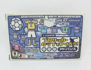 GAME BOY ADVANCE GBA - Let´s make pro soccer club SEGA JAPAN VERSION complete