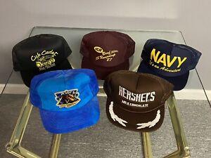 RARE Vintage Snapback Trucker Hat Lot Cub Cadet IGA NAVY Camel Hershey's
