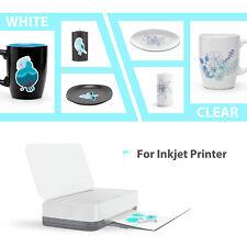 Koala 10 Sheets 8.5x11 CLEAR Inkjet Waterslide Decal Transfer Paper Decor Custom