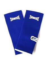 Sandee Muay Thai Ankle Supports Blue Anklets Thai Boxing Pads Cotton Kickboxing
