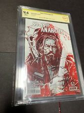 Sons of Anarchy # 12 Art cover CGC 9.4 Signed by Tommy Flanagan