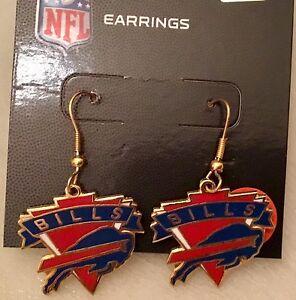 Buffalo Bills Logo J Hook Earrings NEW  PDI