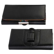 For Samsung Galaxy S4 S5 S6 S7 Universal Horizontal Belt Clip Leather Pouch Case