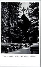 LAKE TAHOE, CA California   The OUTDOOR CHAPEL   in Snow   c1940s    Postcard