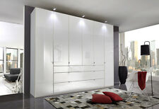 LUXURY ITALIA 100CM WARDROBE BEDROOM GRAPHITE BLACK GREY WHITE GLOSS FITTED FREE