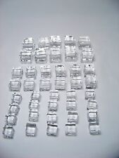 "Acrylic Ice Cubes - 42 Pack - Various sizes 1/2"", 3/4"" and 1"""