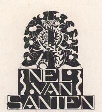 Ex Libris Jeanne Bieruma Oosting : Opus 124b, Nel van Santen