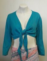 Gorgeous Teal Tie Front Cropped Cardigan from Country Casuals - Size XL - Fab!