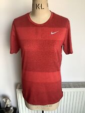 Nike Running Dri-fit T Shirt With Zip Size S VGC
