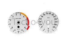 BMW Tachoscheiben für 3er E90 & 5er E60 Benziner 330 kmh km/h M3 M5 5004 Carbon