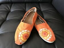 TOMS Charlize Theron Africa Outreach Project Orange Embroidered shoes 6.5