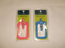 PROTEGE 2 pack Pink or Blue color luggage tags you'll receive two tags.