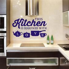 Creative Kitchen Wall Sticker Removable Mural PVC Decals Home Kitchen DIY Decor