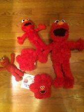 "Sesame Street Hasbro Toddler ""Tickle me Elmo"" red sing talking doll toy lot &DVD"
