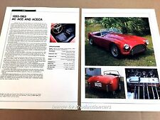 AC Ace Original Car Review Print Article J668 1953 1955 1958 1960 1962