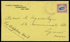 1918 (Jun 14) Airmail Service New York duplex 24¢ Jenny #C3 pioneer flight cover