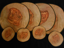 Contemporary Olive Wood Effect Cork Back Table Placemats Coasters Set 4,6,8 12