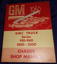 AM065 1969 GMC Truck Series 910-960 1500-2500 Chassis Shop Manual PSD 53-157