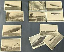 Set of 11 Vtg ZEPPELINS - Original German Airship POSTCARDS including HINDENBURG