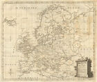 A new & correct chart of Europe by Thomas Jefferys 1756 old antique map